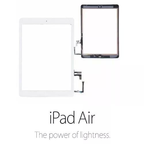 Tela Vidro Touch Ipad Air + Home + Adesivo A1474 A1475