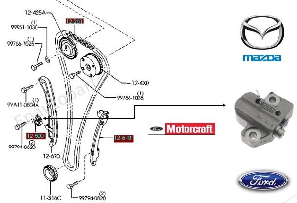 Tensor Hidráulico Cadena Tiempo Mazda 6 Motor 2.3 Original