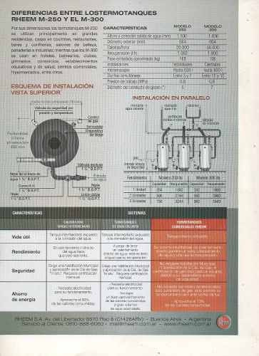 Termotanque Comercial Rheem M 300 Litros Alta Recuperacin