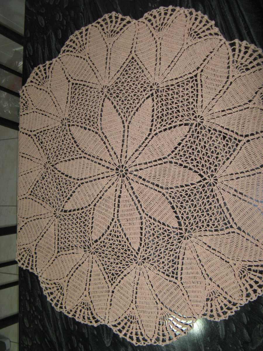 Toalha De Mesa Em Croche Redondo  R 12600 em Mercado Livre