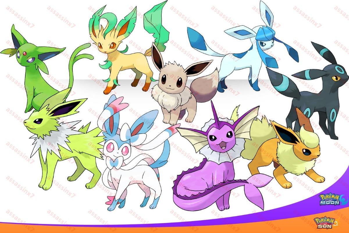 Todas Las Evoluciones De Eevee Pokemon Ultrasolluna  S
