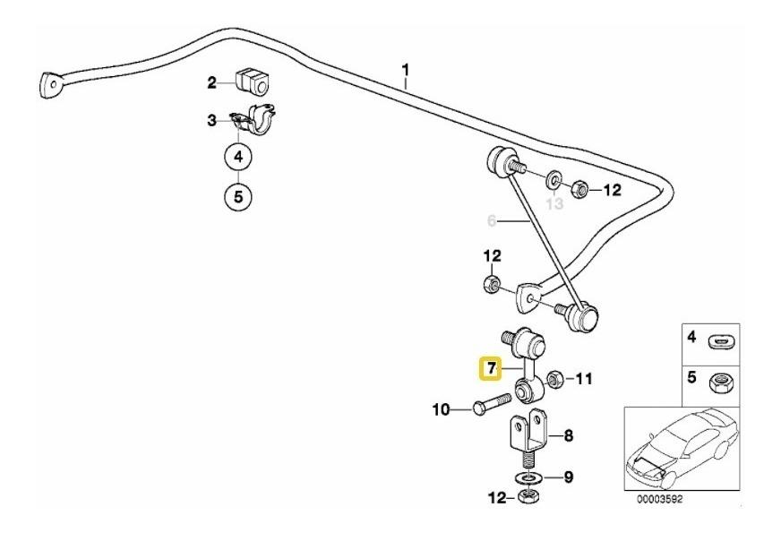 Tornillo Estabilizador Cacahuate Bmw 318i 323i 325i 328i