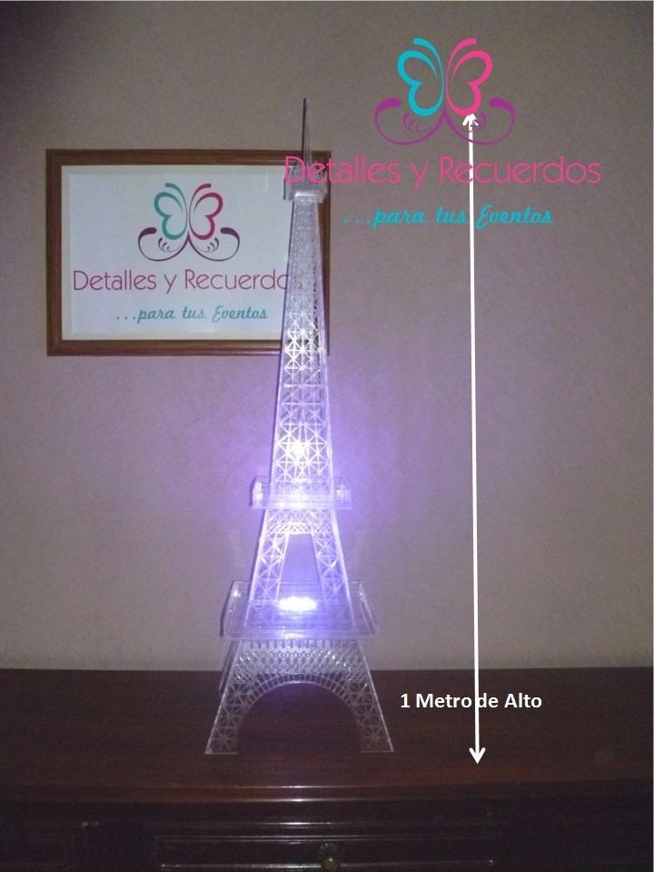 Torre Eiffel De 1mt Acrlico Para Centro De Mesa