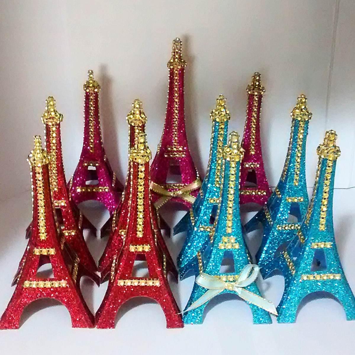 Torre Eiffelrecuerditos 15 Aos Centros De Mesa