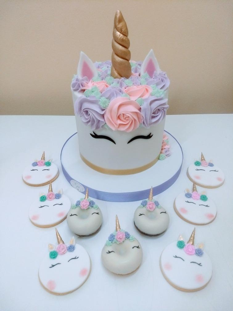 Tortas Decoradas Mesa Dulce Unicornio   60000 en