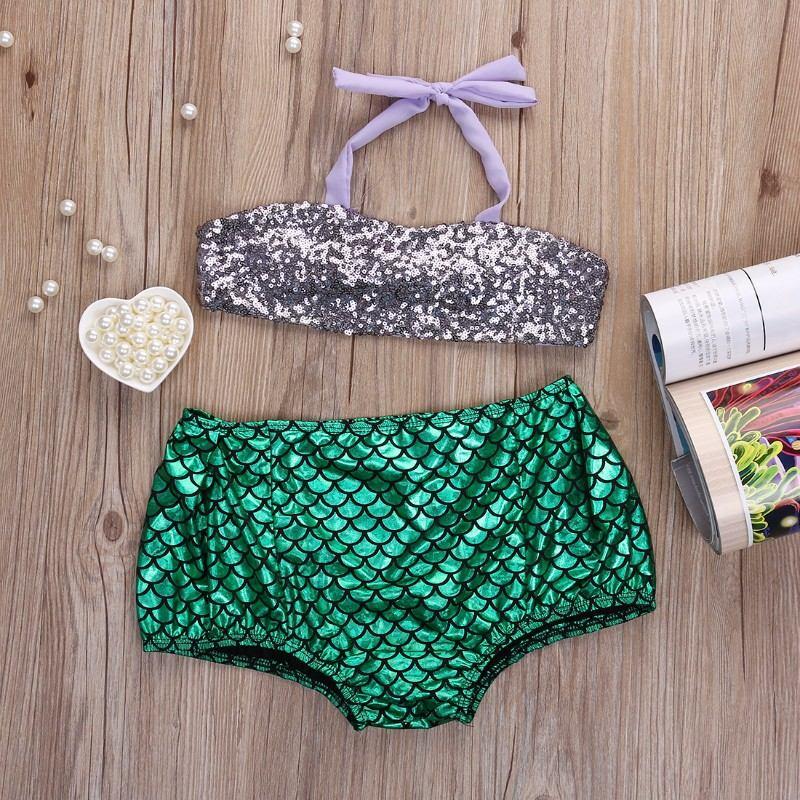 Traje De Bao Para Nia De La Sirenita Hermoso Bikini