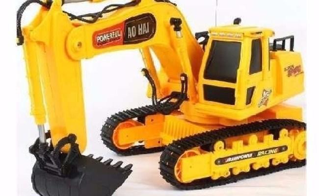 Trator Escavadeira Controle Remoto R 597 58 Em Mercado