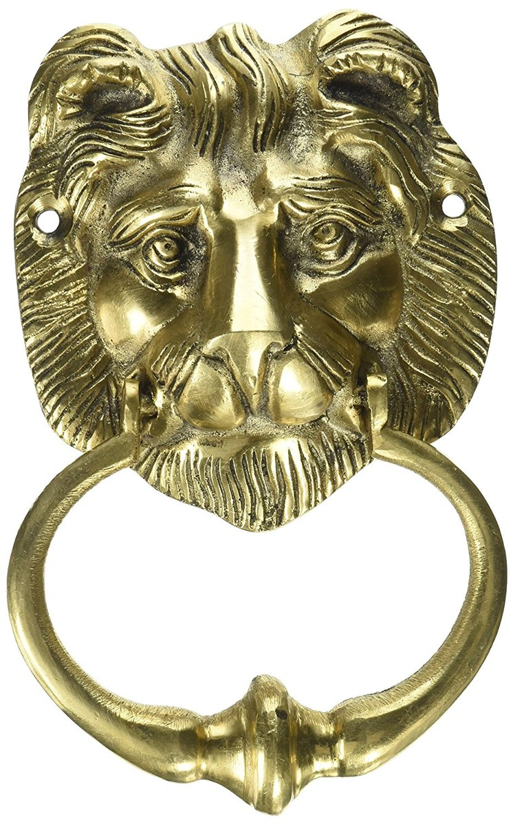 medium resolution of two moustaches brass lion face door knocker cargando zoom