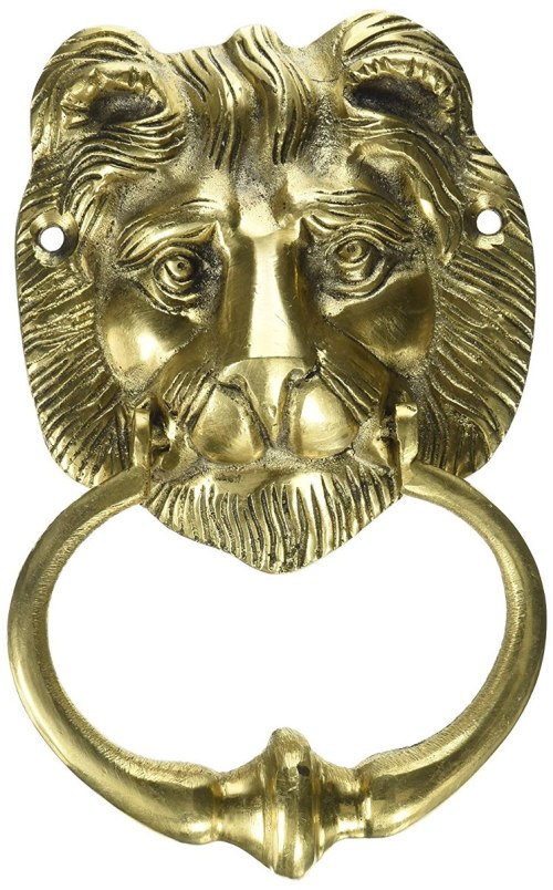 small resolution of two moustaches brass lion face door knocker cargando zoom