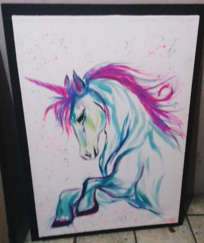 Unicornios  Cuadros Decorativos Pintados A Mano En Lienzo