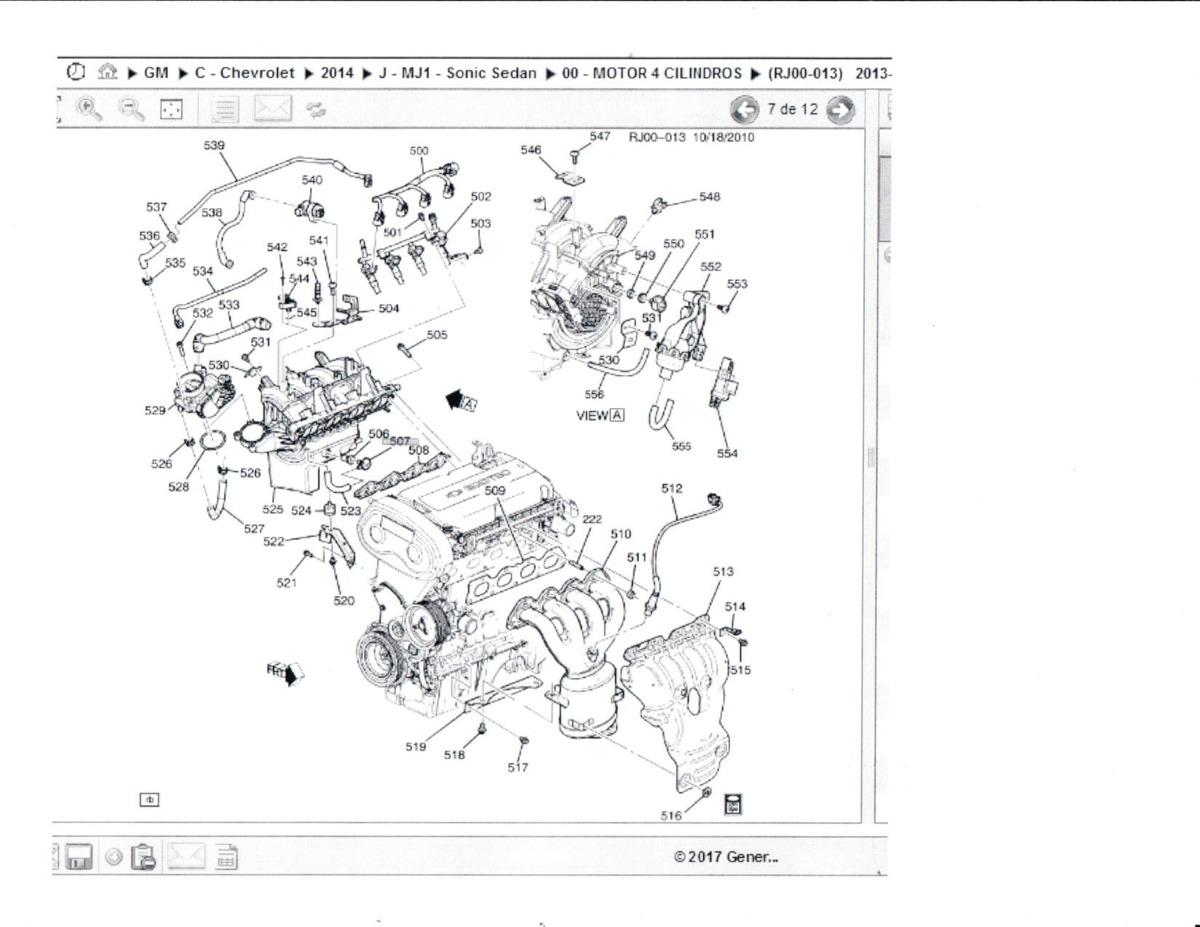 Válvula Multiple Check Original Admision Sonic 1.6 2012