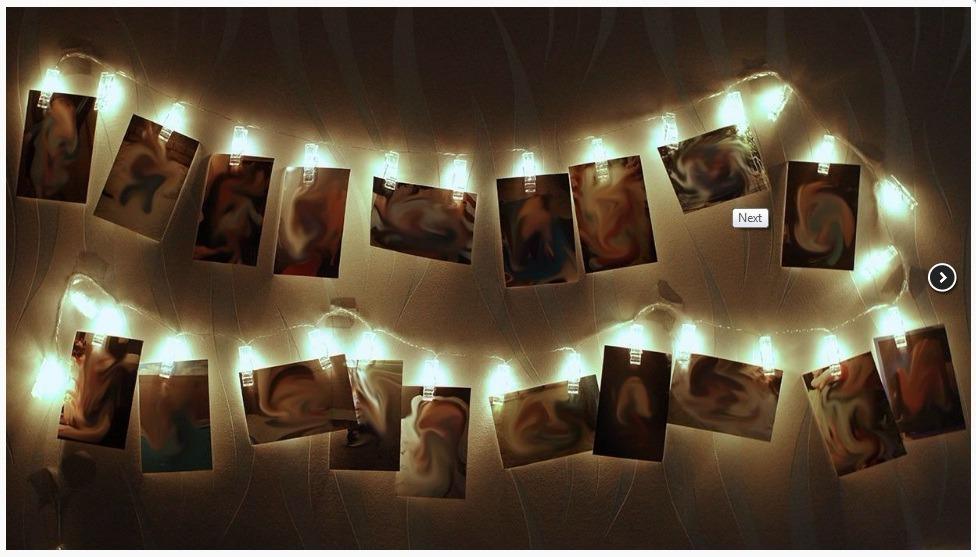 Varal De Fotos Cordo Luminoso Pregador 10 Leds Cores