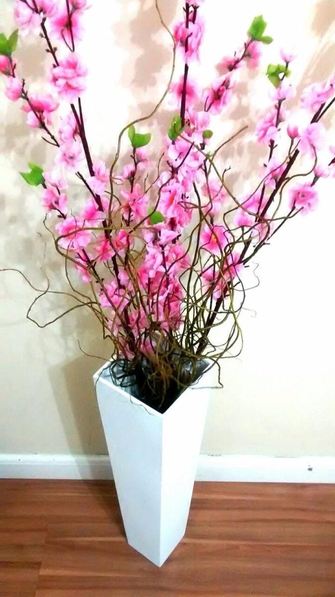 Vaso De Cho Mdf Com Galhos Secos E Flores Artificiais  R