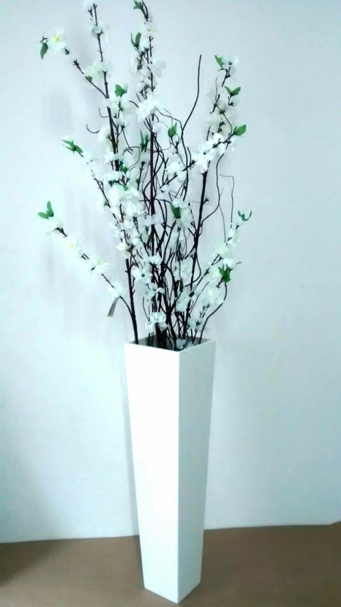 Vaso De Cho Mdf Com Galhos Secos Flores Artificiais