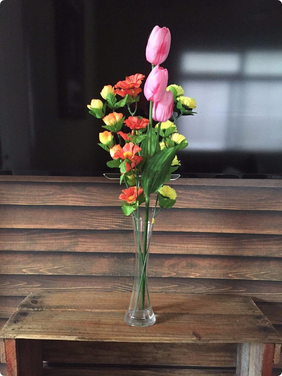 Vaso Solitrio Vidro 24cm Decorao Festas Flores