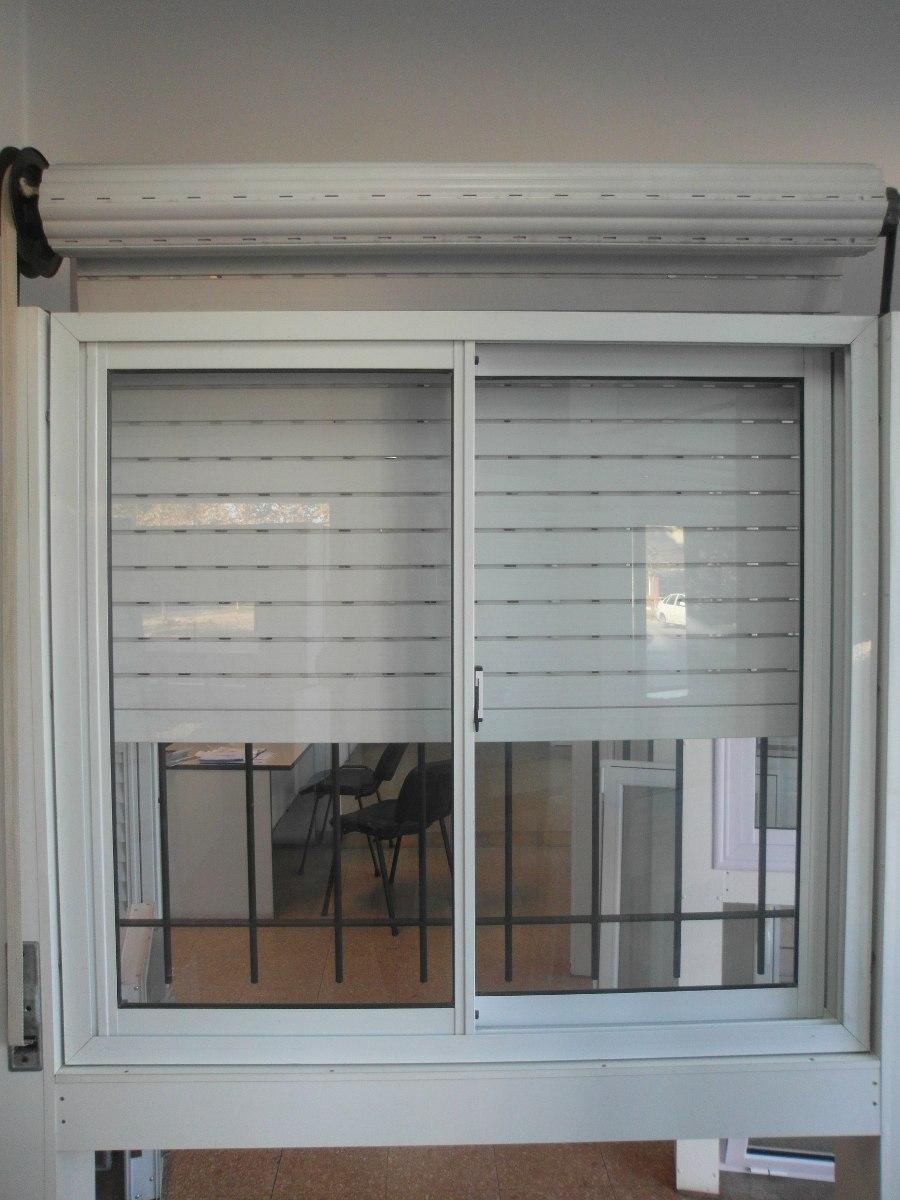 Ventana Aluminio Blanco 150 X 110 Vidrio Cortina Y Reja