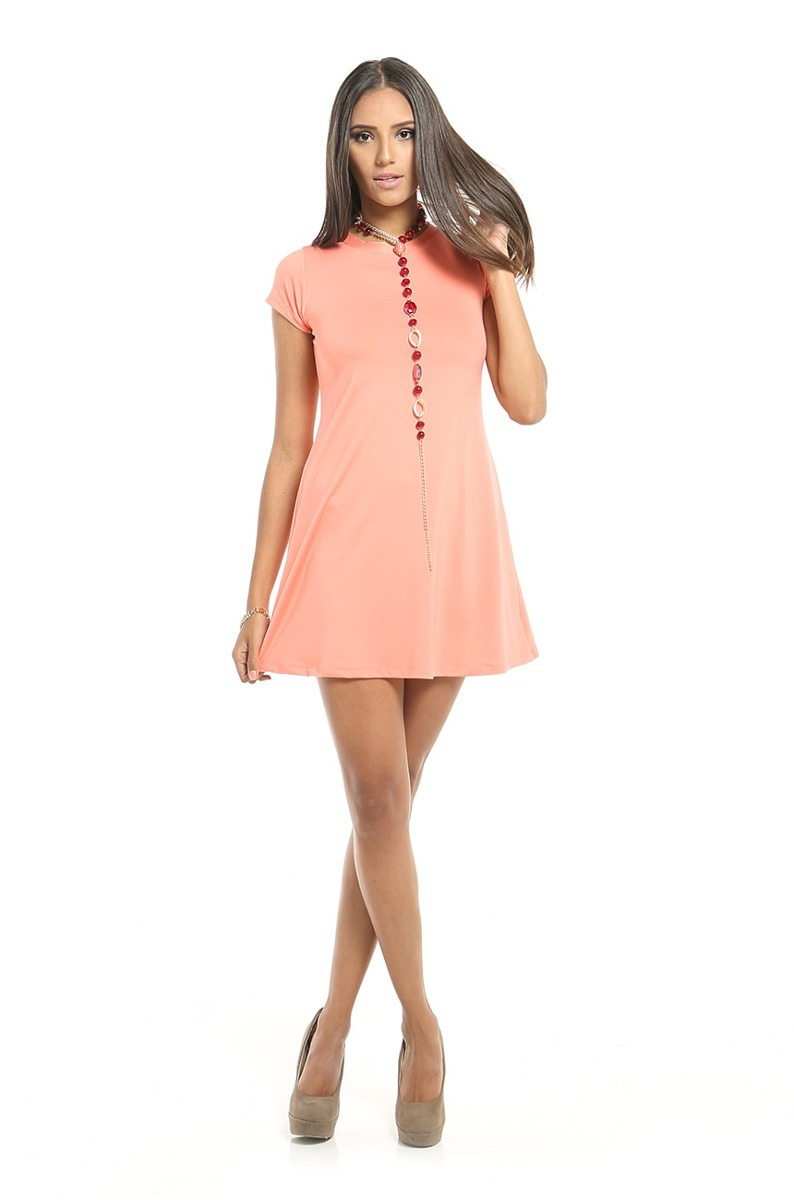 eb6d70736 Vestido Casual Melon Mangas Cortas Ancho Saints Clothes Bs 0 07