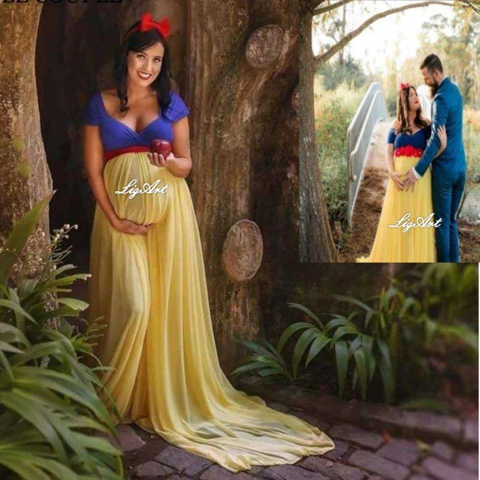 Vestido Embarazadablancanievesprincesasesion Fotos  S