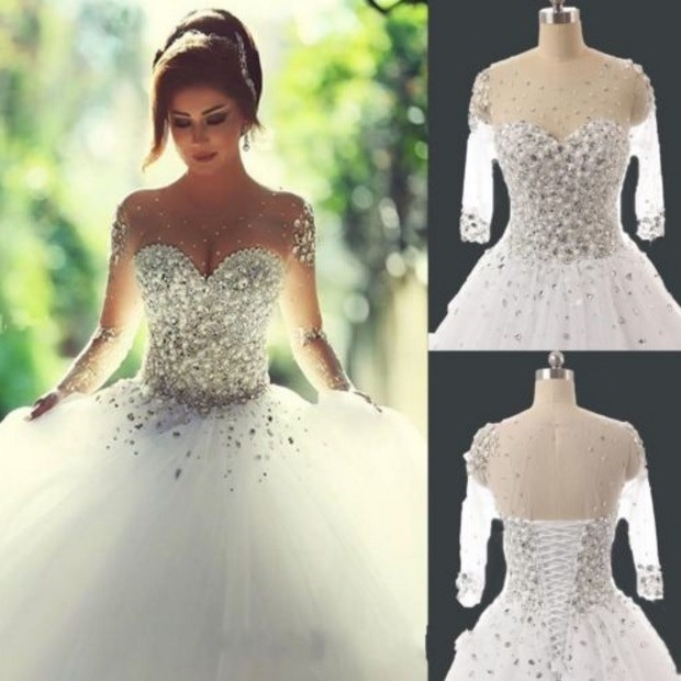Vestido Noiva Princesa Importado Renda Com Pedras R 955