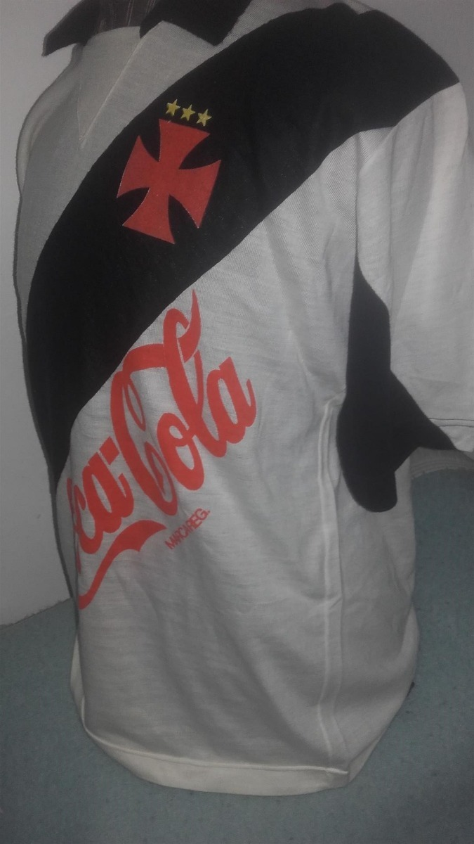 4ebe5a2c96b97 Vieja Camiseta Vasco Da Gama Publicidad Coca Cola 890 00