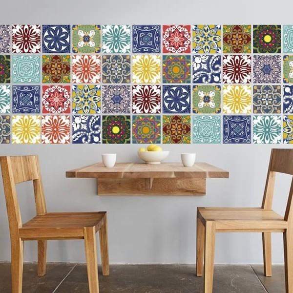 Vinilo Azulejo Mosaico Adhesivo 15x15 Cocina X 40u
