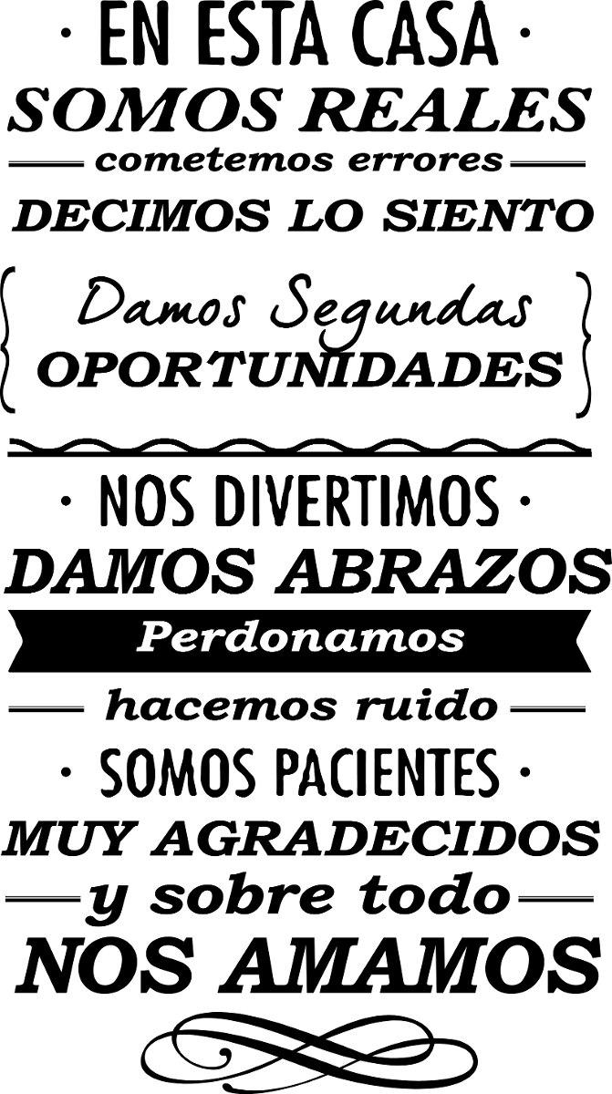 Vinilos Decorativos De Pared Frases Textos Corte Grandes   21895 en Mercado Libre