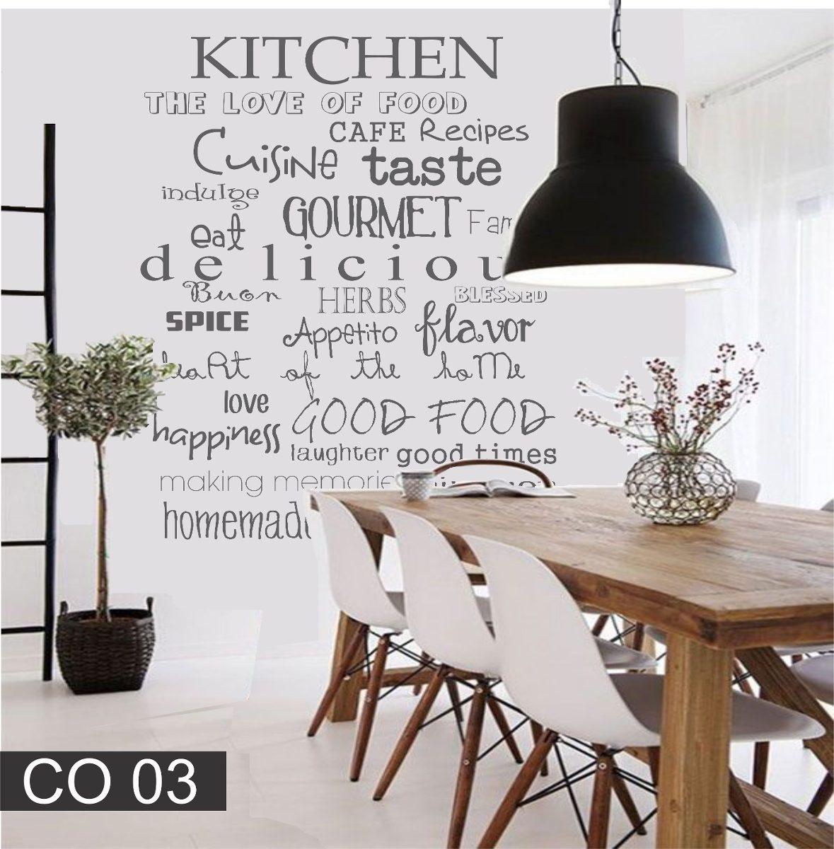 Vinilos Decorativos Para La Cocina Comedor Frase Texto