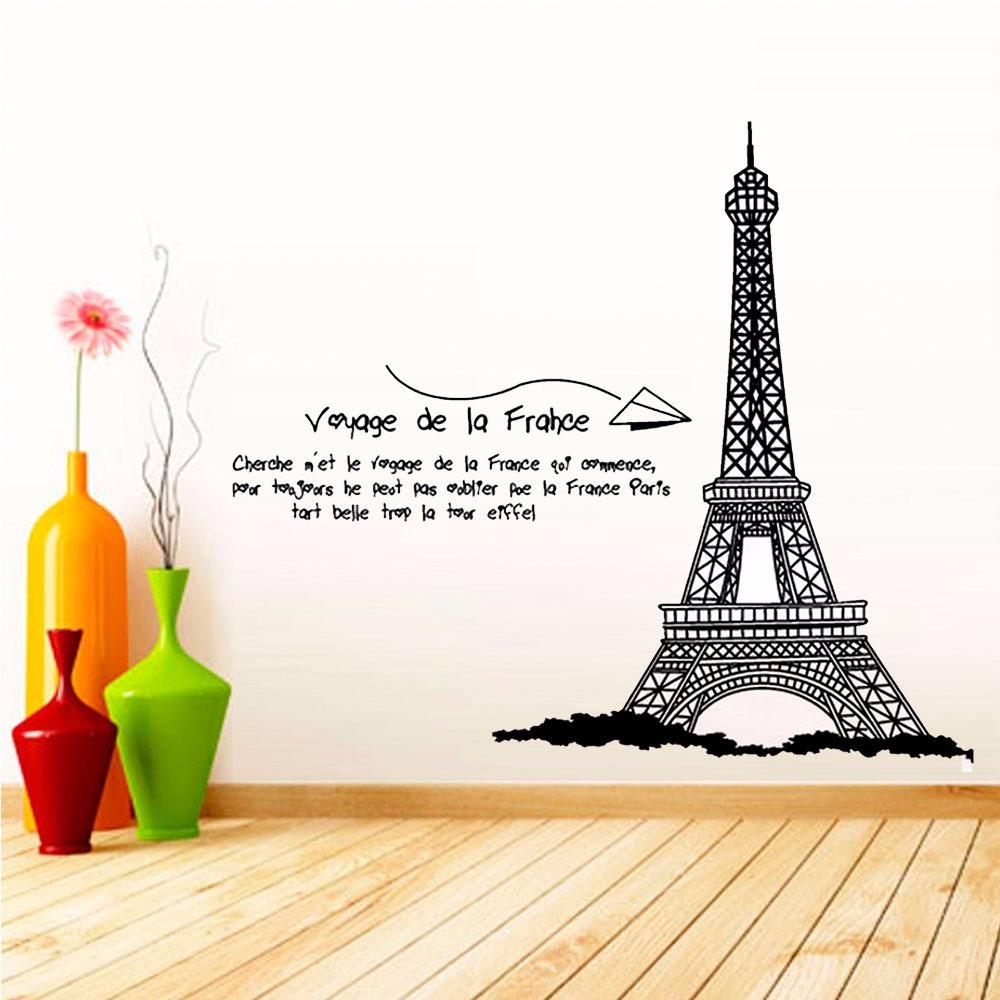 Vinilos Decorativos Para Paredes Torre Eiffel Grande