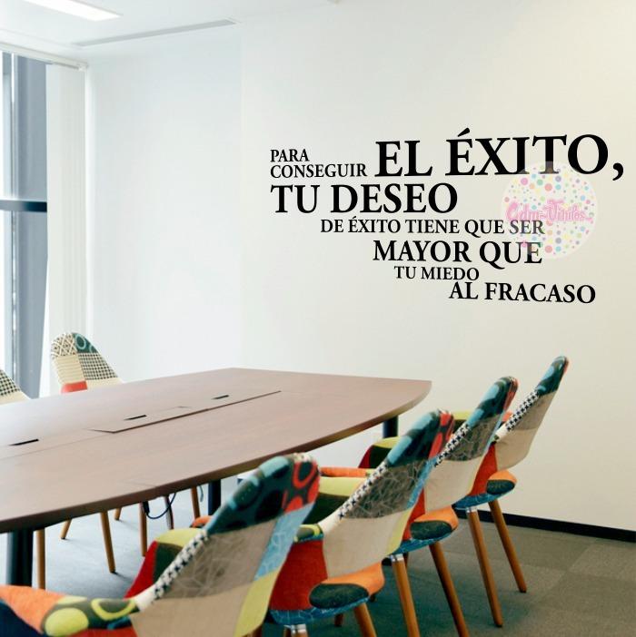 Vinilos Decorativos Pared Oficinas Frase Exito Sala