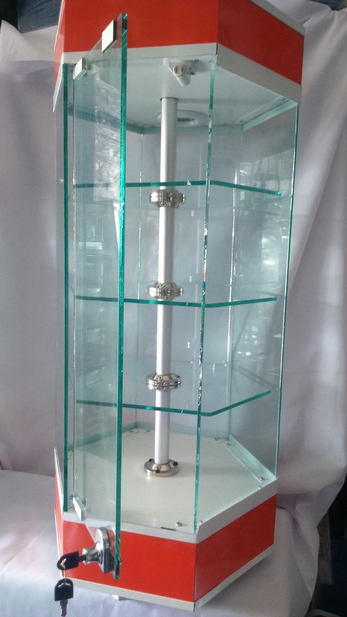 Vitrina Aparador De Torre Octagonal Vitrina Exhibidora