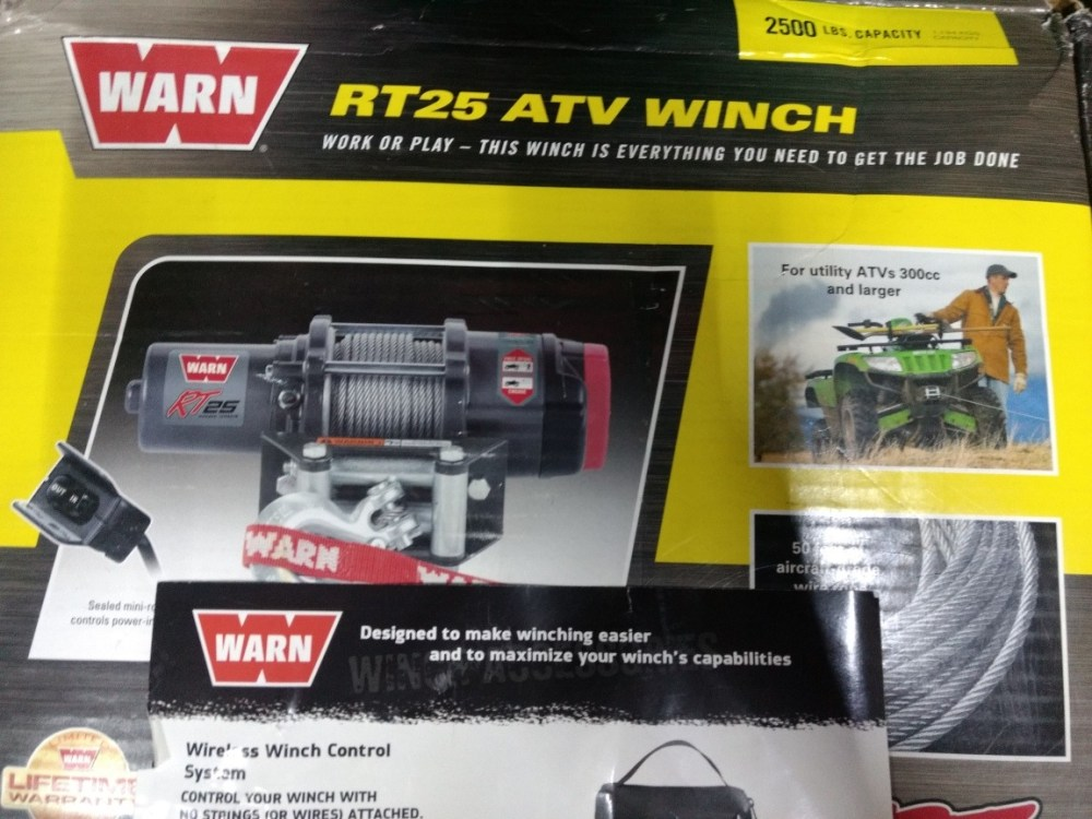 medium resolution of winch 2500 lbs nuevo warn rt25 cargando zoom
