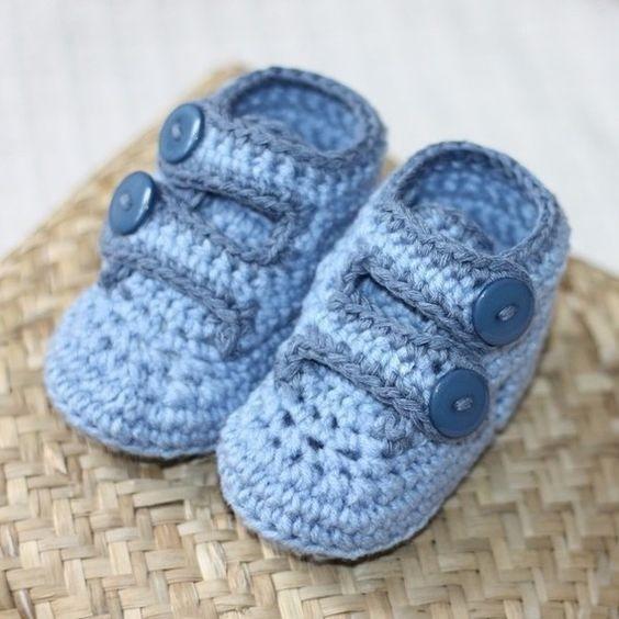 Zapatitos Tejidos De Bebe Varon Nio Botas Zapatos