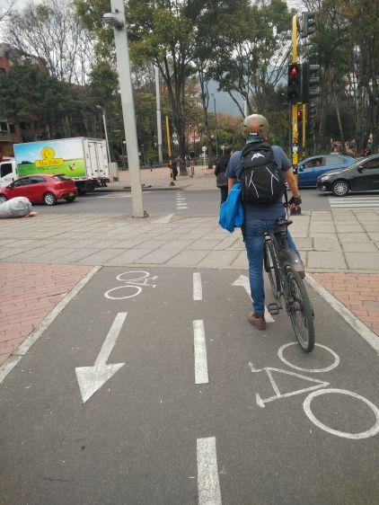 Carril bici en el Parque Virrey