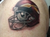 Washington Redskins Throwback Helmet Tattoo