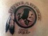 Washington Redskins Logo Tattoo