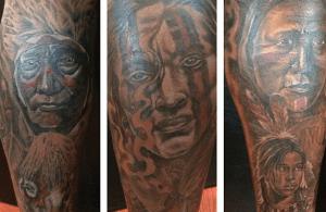 Santana Moss Gets Beautiful Native American Tattoos on his Legs
