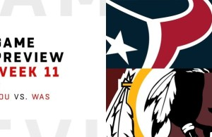 HTTR4LIFE Pre-Game Report - Redskins vs Texans Week 11