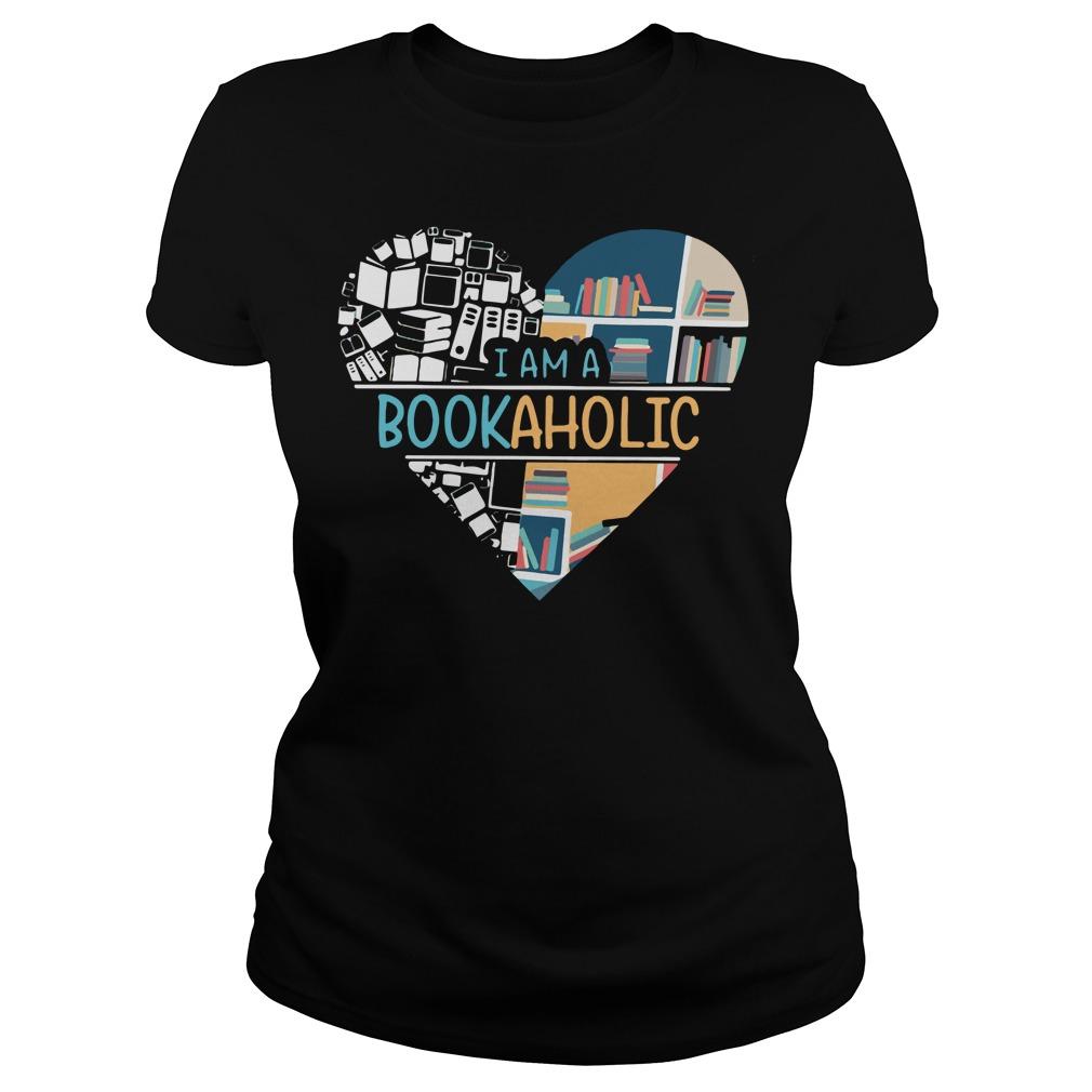 I am a BookAholic – Book a holic Ladies tee
