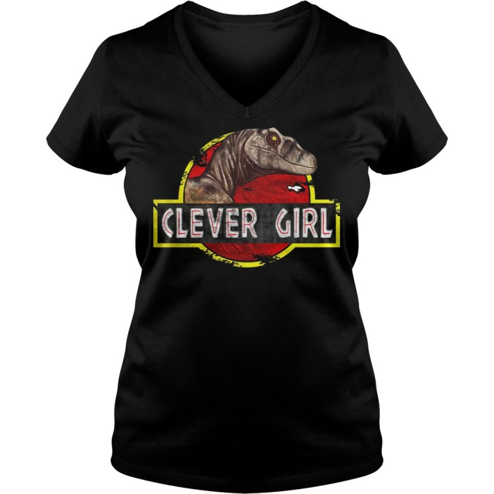 Jurassic World Clever Girl V-neck t-shirt