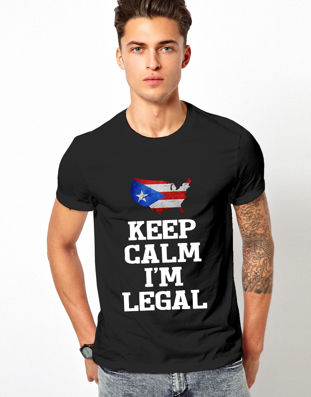 Keep calm I'm Legal Puerto Rico Flag shirt