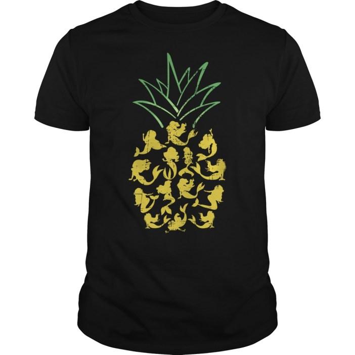 Mermaid pineapple Guys shirt