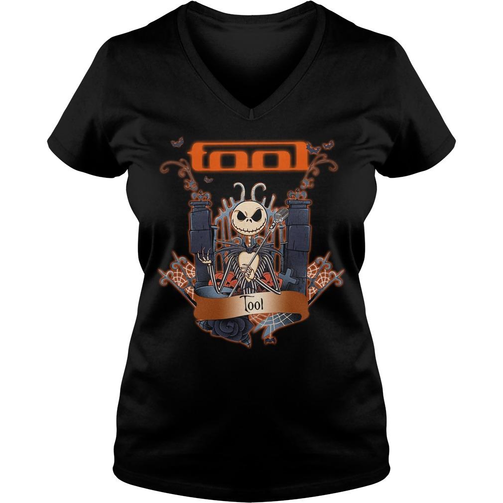Jack Skellington tool Halloween V-neck t-shirt