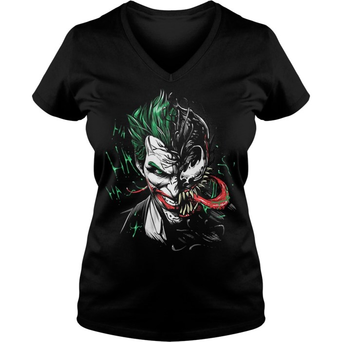 Official Joker Venom V-neck t-shirt