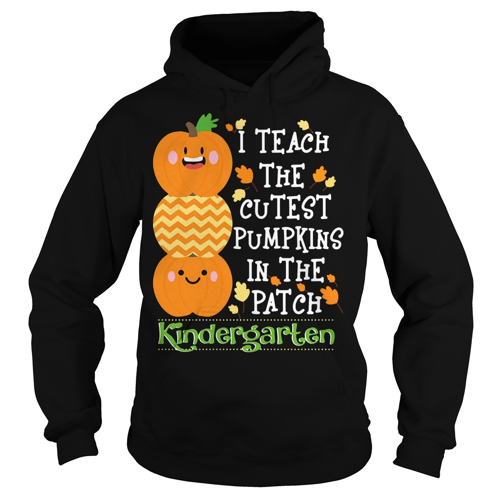I teach the cutest pumpkins in the patch kindergarten Hoodie