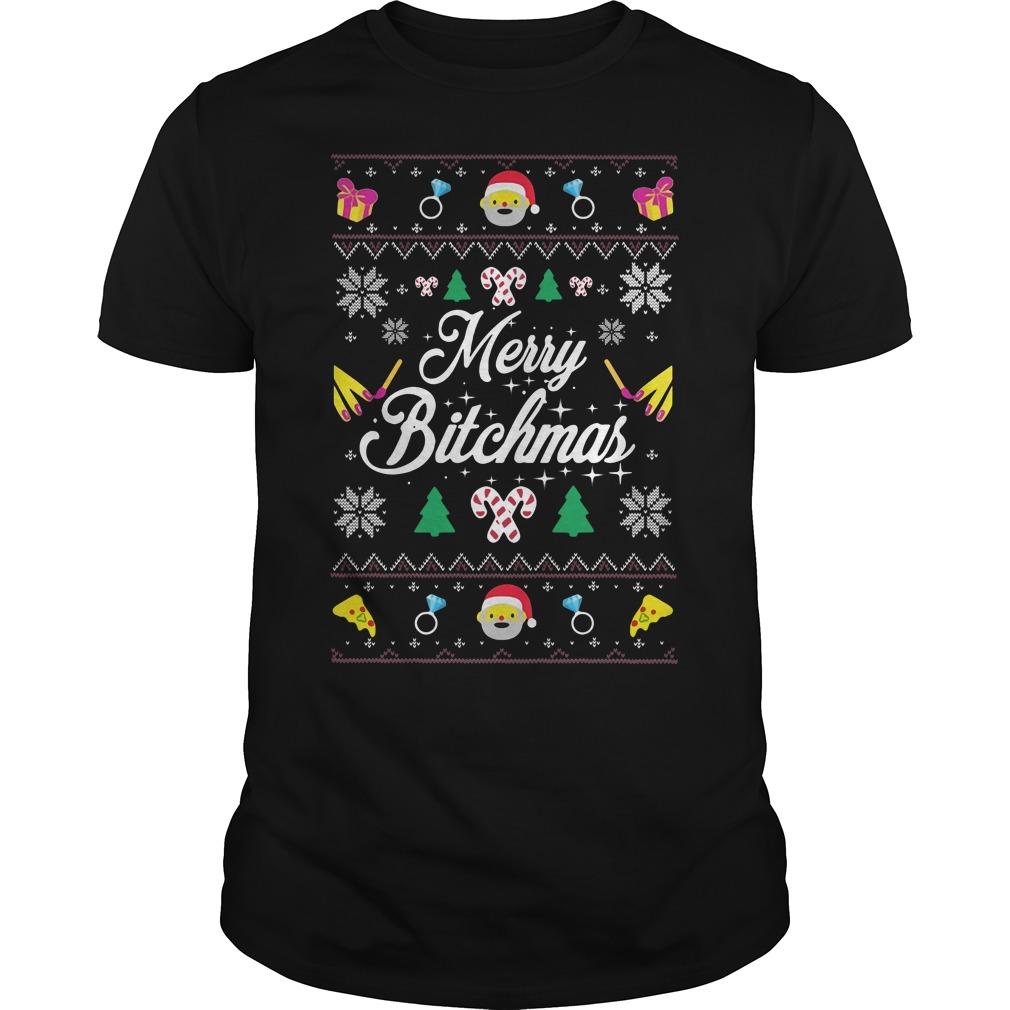 Merry Bitchmas Ugly Christmas Guys shirt
