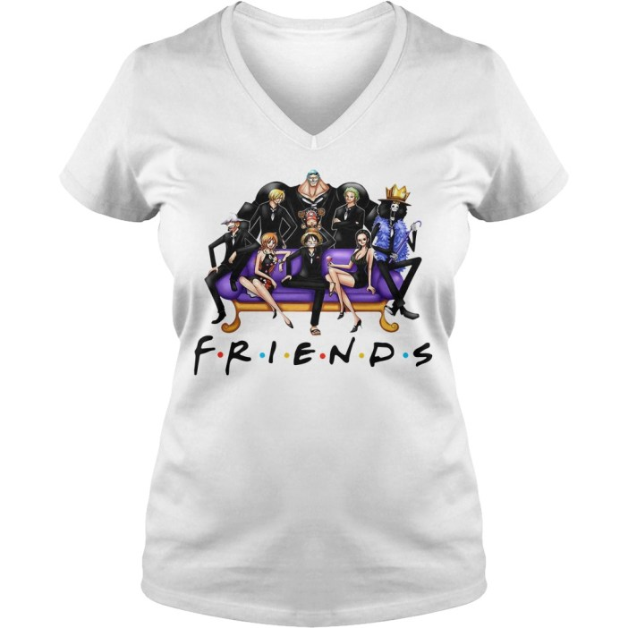 Official One Piece Friends V-neck t-shirt