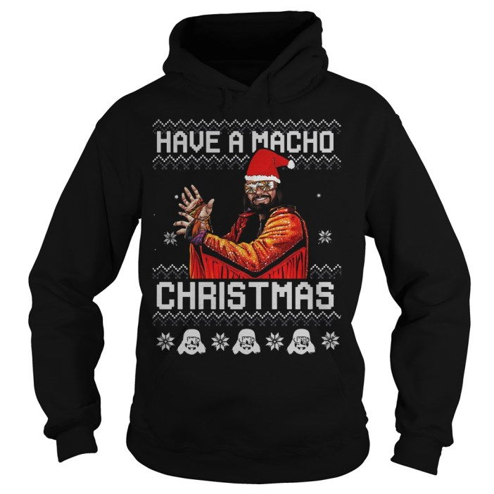 Randy Savage have a macho ugly Christmas Hoodie