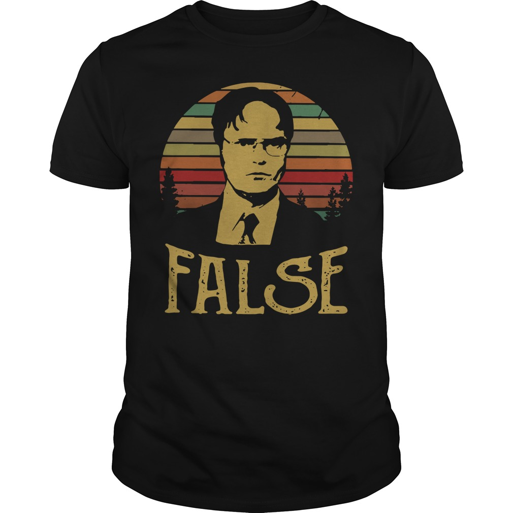 Dwight Schrute false vintage Guys shirt
