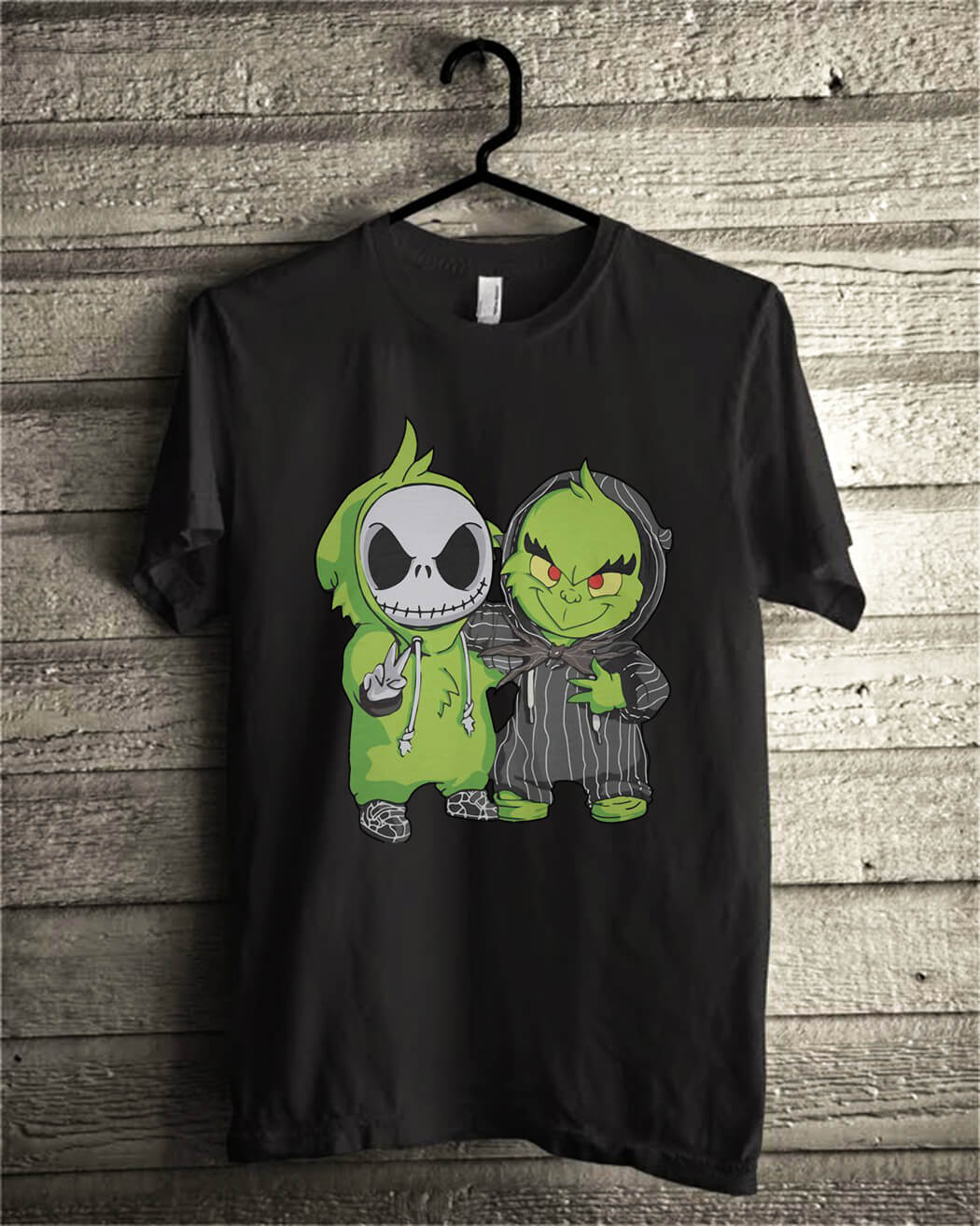 Grinch and Jack Skellington shirt