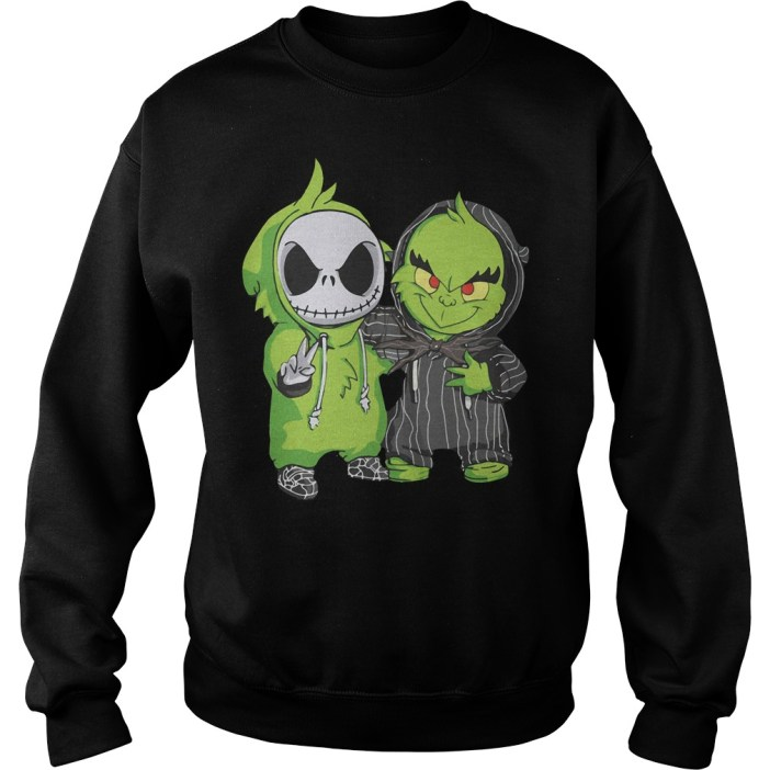 Grinch and Jack Skellington Sweater